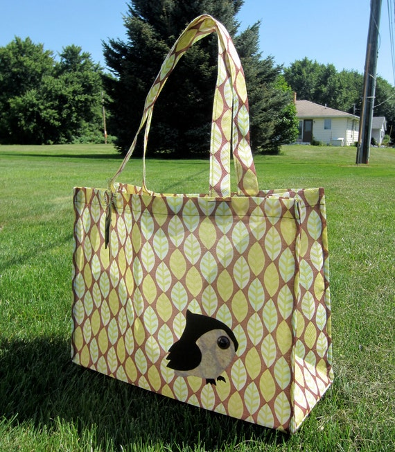Little Owl Reusable Shopping Bag