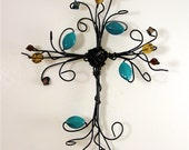 cross---turqouise dream----wire cross