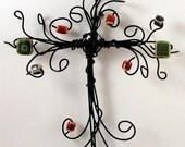cross---Ceramic  Joy--wire cross