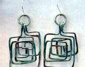 earrings----wire squared fancy girl earrings