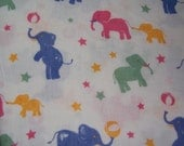 1/2Y Kawaii Elephant Cotton Fabric