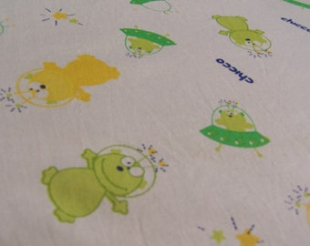 SALE 1/2Yard+ Kawaii Chicco Alien Fabric