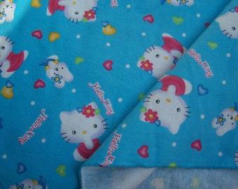 "Sale/ Hellokitty Flannel Cotton Fabric(44""/110cm)"
