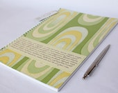 SALE Last one: Large notebook made from vintage wallpaper, for your mumblings, lists, rants, dreams, ideas...