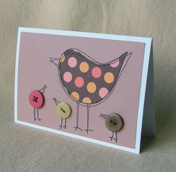 Mother bird - beautiful card for mothers day