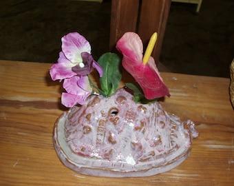 Lavender Shell Flower Pillow