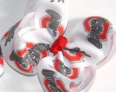 Ohio State University Boutique Bow GO BUCKS