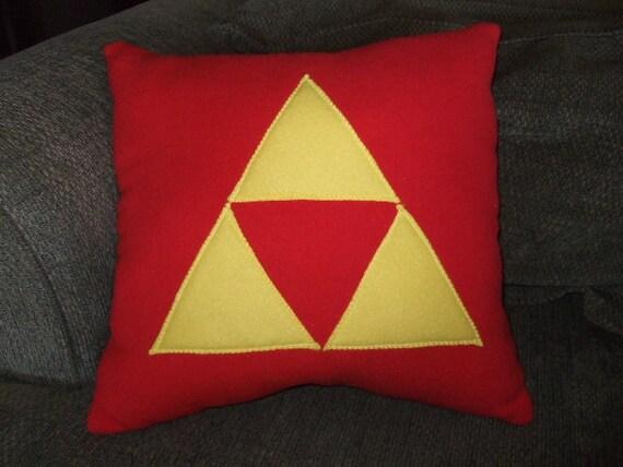 Legend of Zelda Triforce Fleece Pillow - RED