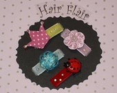 Variety Pack - A - Hair Flair Snap Clips  - No Slip Guarantee (set of 4) - DBCB