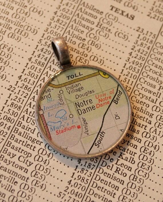 Notre Dame Map Pendant