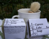 Spicy Citrus Shaving Soap 1/2 Bar