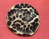 vintage black spotted brooch