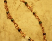 Copper Wire Wrapped Bracelet with Beads