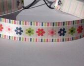 Flowers and  Stripes Headband