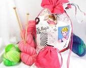 On The Town Knitting Bag, Cotton - Fashionista