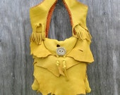 Deerskin Tote with Natural Raw Edge Layers by Stacy Leigh RESERVED for Jenn