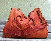 RESERVED for Holly Rustic Lover's Only Elkskin Leather Bag by Stacy Leigh Ready to Ship