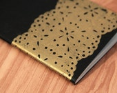 SALE golden lace, screenprinted moleskine cahiers journal (pocket size) LAST ONE