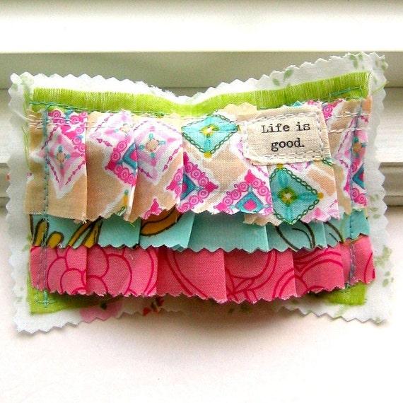 Sachet, Lavender Sachet,  Small  Pillow Sachet, Appliqued, Flower Sachet, Word Sachet, Lavender, Sachet, Life is good. No. 216