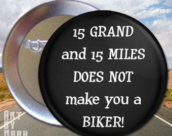 Biker   Pinback Button