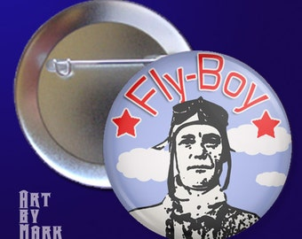 Fly Boy Pilot  Pinback Button