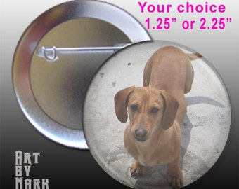 Make A Button CUSTOM PET Dog Cat Picture Button
