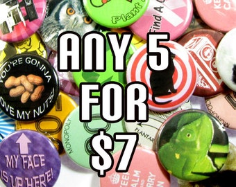 Pinback Button 5 pack