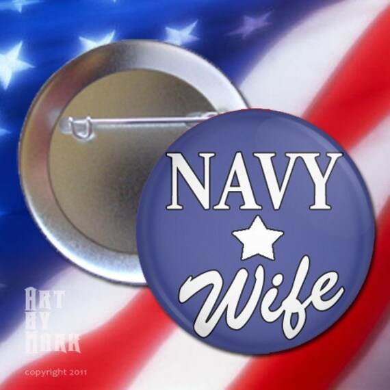 Navy Wife Pinback Button