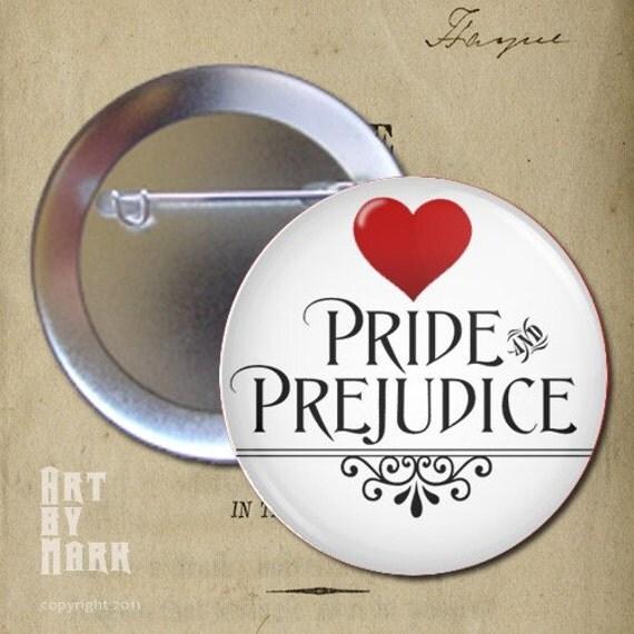 I Love  Pride and Prejudice Book Pinback Button