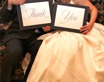 Custom Wedding Thank You Signs