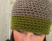 Taupe and Olive Hat