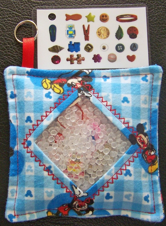 I Spy Bag - Mini with Sewn Word List and Detachable Picture/Word List - Mickey Mouse READY TO SHIP