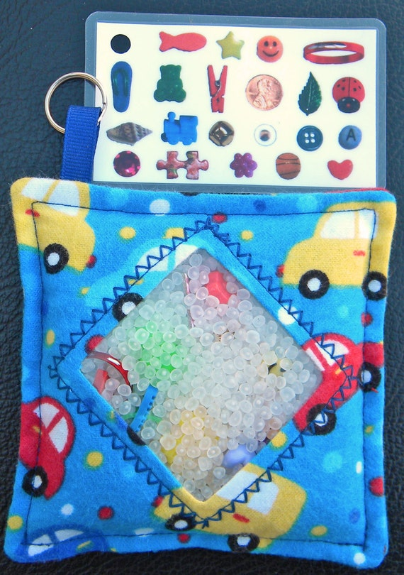 I Spy Bag - Mini with Sewn Word List and Detachable Picture List- Little Cars