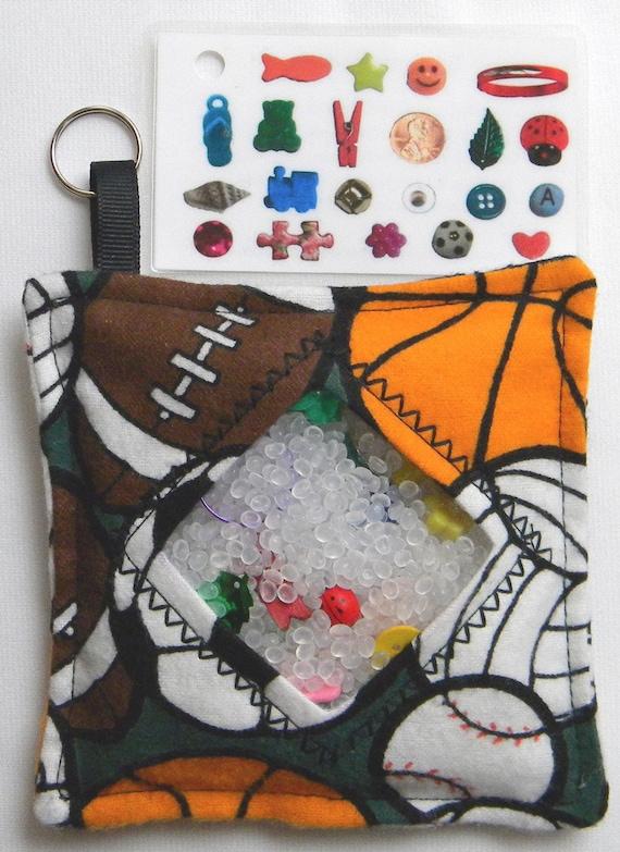 I Spy Bag - Mini with Sewn Word List and Detachable Picture/Word List- Sports Balls