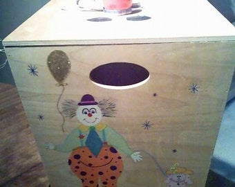 "Custom Made ""Send in the Clowns"" Toy Box"