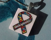 AUTISM AWARENESS SCRABBLE TILE PENDANT