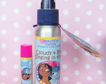 Singing in the Rain Cloudy and Bears  Body Mist and Lip Conditioner Set