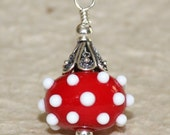 Red Whimsy Lampwork Pendant