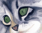Silver Tabby Reproduction Print