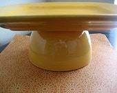 Yellow Gold Square Cake Stand