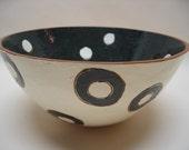 Black Holes White Spots - bowl
