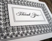Letterpress Thank You Cards set of 6