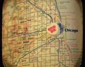 goodbye chicago candy heart map art 5x5 ttv photo print - free shipping