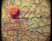 love you winston-salem custom candy heart map art 5x5 ttv photo print - free shipping