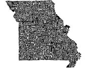 Missouri - typography map...