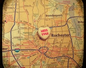 miss you rochester custom candy heart map art 5x5 ttv photo print - free shipping