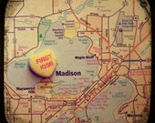 first kiss madison custom candy heart map art 5x5 ttv photo print