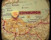 first kiss edinburgh scotland custom candy heart map art  5x5 ttv photo print