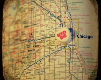 goodbye chicago candy heart map art 5x5 ttv photo print - free shipping