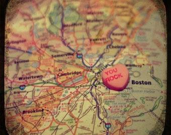 you rock boston candy heart map art 5x5 ttv photo print - free shipping